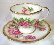 Vintage Royal Standard Teacup Candle